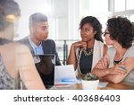 team of successful business... | Shutterstock . vector #403686403