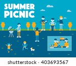 in spring  go on a picnic. | Shutterstock .eps vector #403693567