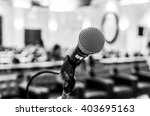 microphone over the abstract... | Shutterstock . vector #403695163