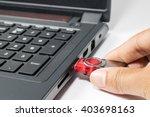 Usb Red Flash Drive Stick Bein...