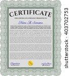 green certificate template or... | Shutterstock .eps vector #403702753