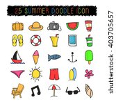 25 summer doodle icon | Shutterstock .eps vector #403705657