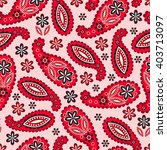 paisley pattern. indian... | Shutterstock .eps vector #403713097