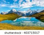 bachalpsee lake in switzerland | Shutterstock . vector #403715017