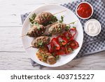 Постер, плакат: Tasty kofta kebab with