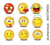 set of emoticons.