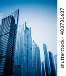 city skyscrapers blue toned... | Shutterstock . vector #403731637