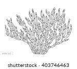 coral isolated  coral reef.... | Shutterstock .eps vector #403746463