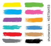 vector brush stroke colorful... | Shutterstock .eps vector #403756453