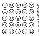 vector icons of smiley faces...