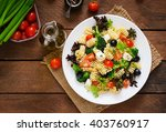 pasta salad with tomato ... | Shutterstock . vector #403760917
