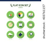 business flat icon set | Shutterstock .eps vector #403761157
