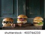Three Homemade Veggie Burgers...