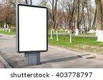 empty billboard or lightbox on... | Shutterstock . vector #403778797