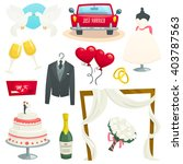 wedding icons set  collection... | Shutterstock .eps vector #403787563