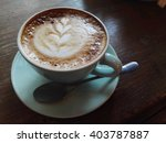 hot capucino morning | Shutterstock . vector #403787887