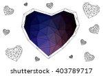 dark pink  blue heart isolated... | Shutterstock .eps vector #403789717