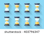 sandglass flat icons with... | Shutterstock .eps vector #403796347