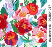 seamless floral  background.... | Shutterstock .eps vector #403804057
