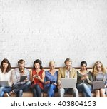 diversity people connection... | Shutterstock . vector #403804153