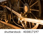 the wheels of a steam locomotive | Shutterstock . vector #403817197