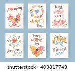 set of vintage mothers day... | Shutterstock .eps vector #403817743