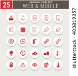 25 red universal icon set.... | Shutterstock .eps vector #403819357