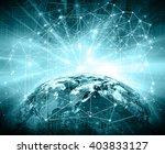best internet concept of global ... | Shutterstock . vector #403833127