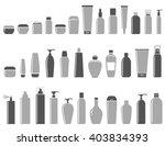 blank cosmetic bottle icon set...