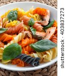 Colorful Fusilli Pasta With...