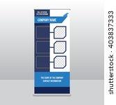banner roll up design  business ... | Shutterstock .eps vector #403837333