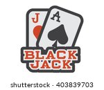 blackjack illustration   flat...
