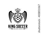 soccer logo. vector logo... | Shutterstock .eps vector #403851067