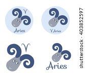 aries cartoon character set.... | Shutterstock .eps vector #403852597