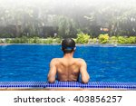 man ready to swimming in the... | Shutterstock . vector #403856257