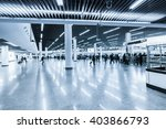 commuters motion blur in the... | Shutterstock . vector #403866793