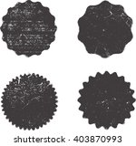 Grunge Stamps Collection, Circles. Banners, Insignias , Logos, Icons, Labels and Badges Set . | Shutterstock vector #403870993