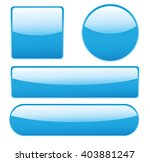 collection of glossy buttons in ... | Shutterstock . vector #403881247