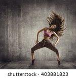 fitness sport dance  woman... | Shutterstock . vector #403881823