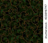 seamless floral dark green... | Shutterstock .eps vector #403898797