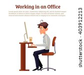 image of a man working space ... | Shutterstock .eps vector #403912213