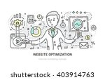 illustration of optimizing... | Shutterstock .eps vector #403914763
