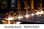 cnc lpg cutting with sparks... | Shutterstock . vector #403915207