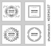 black retro vintage insignias... | Shutterstock .eps vector #403934137