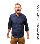 blond man angry expression | Shutterstock . vector #403934227