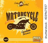 custom motorcycle | Shutterstock .eps vector #403967557