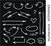 vector white arrows on black... | Shutterstock .eps vector #403968463