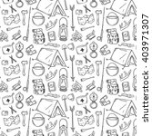 hand drawn tourism pattern.... | Shutterstock .eps vector #403971307