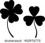 clover with four and three... | Shutterstock .eps vector #403976773