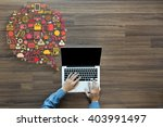 business innovation technology... | Shutterstock . vector #403991497
